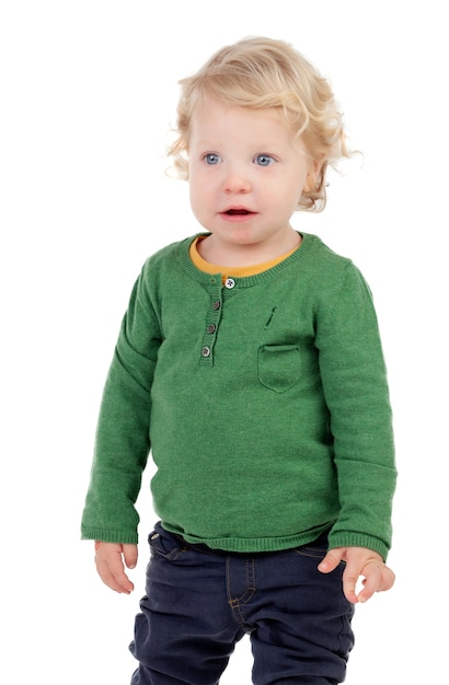 Portrait of a beautiful baby Premium Photo
