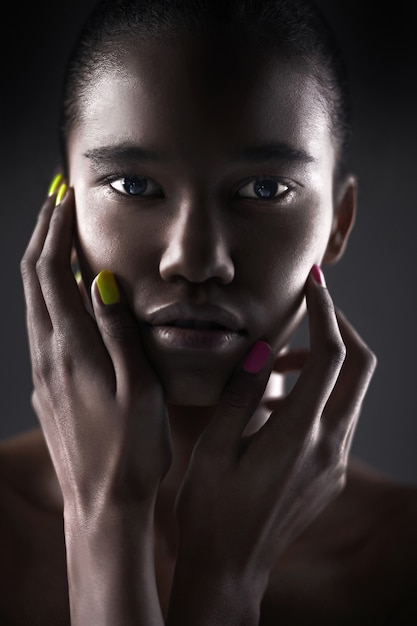 Portrait of beautiful sexy black woman Premium Photo