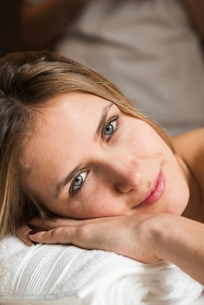 Portrait of a beautiful woman in spa Free Photo