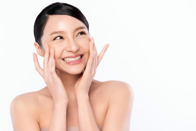 Portrait beautiful young asian woman clean fresh bare skin concept ...