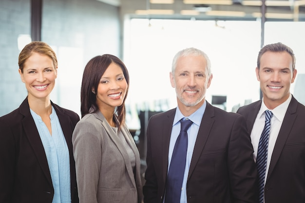 Portrait of business people smiling Premium Photo