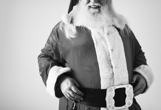 Portrait of a cheerful santa claus Free Photo