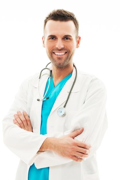 Ritratto di medico maschio fiducioso Foto Gratuite