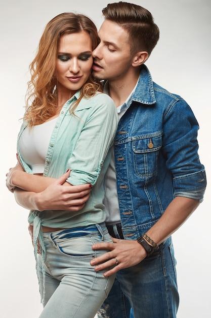 Portrait of fashion glamor stylish swag young couple Premium Photo