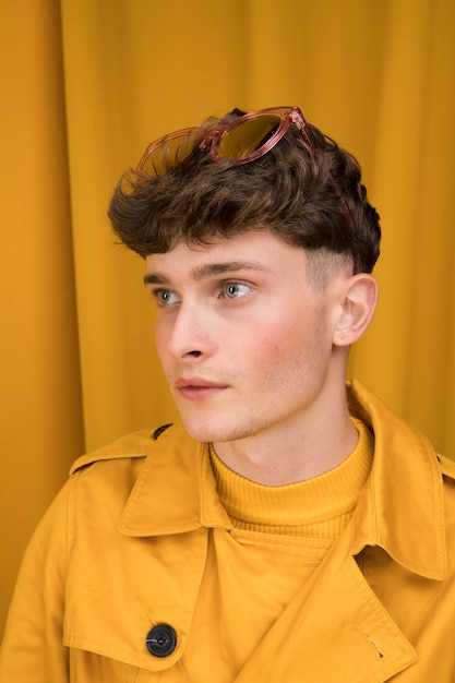 Portrait of fashionable boy posing Free Photo
