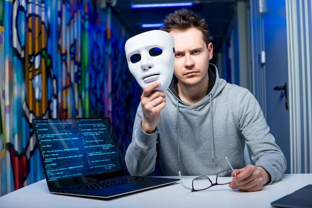 Portrait of hacker Free Photo
