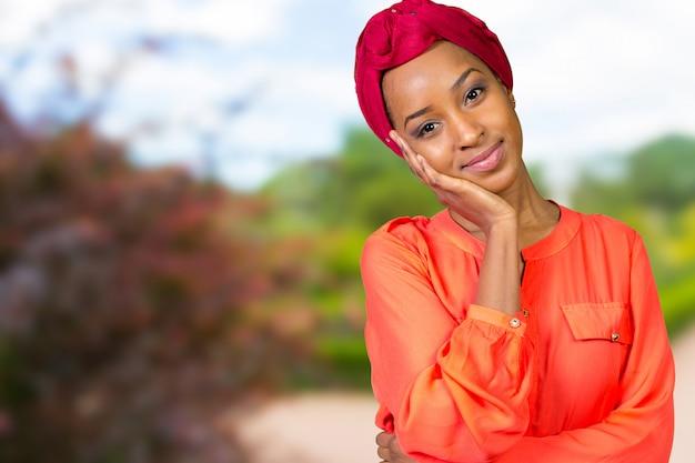Portrait of happy african american woman Premium Photo
