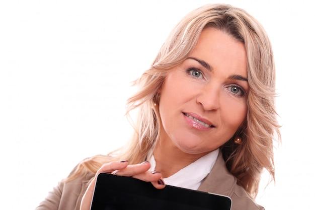 Ritratto di felice imprenditrice di età compresa tra Foto Gratuite