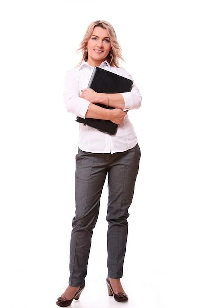 Portrait of happy aged businesswoman Free Photo