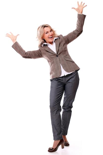 Ritratto di donna invecchiata felice Foto Gratuite