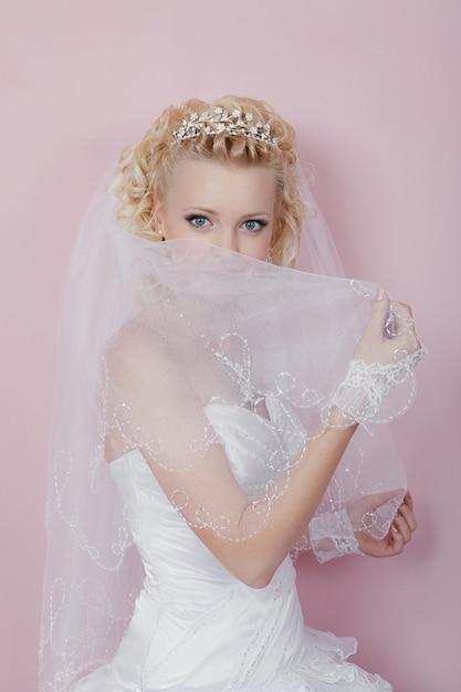 Portrait of a happy bride Premium Photo