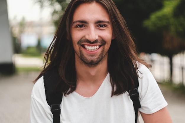 Portrait happy man smiling Free Photo