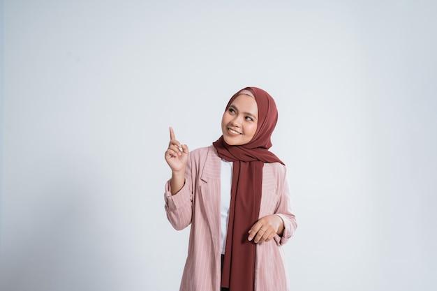Portrait of happy muslim businesswoman Premium Photo