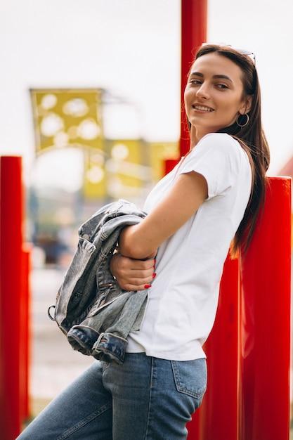 Portrait of happy woman Free Photo