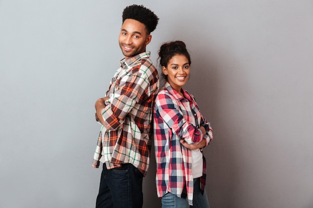 Portrait of a happy young african couple Free Photo