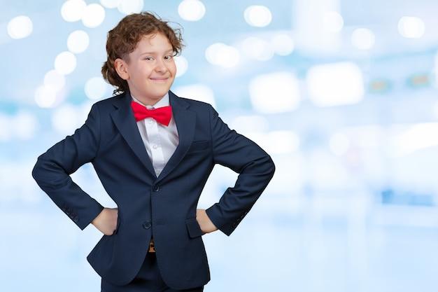 Portrait of a kid businessman Premium Photo