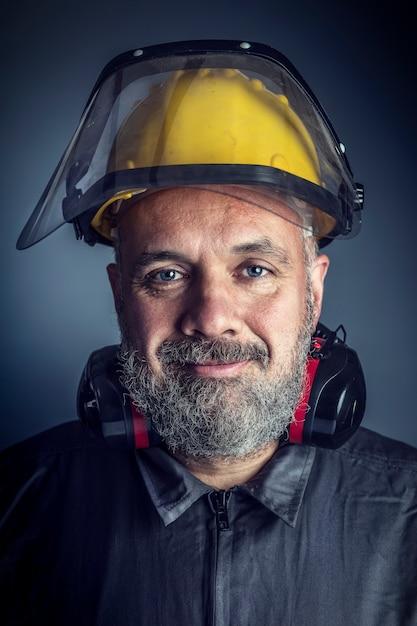 Portrait of labor Premium Photo