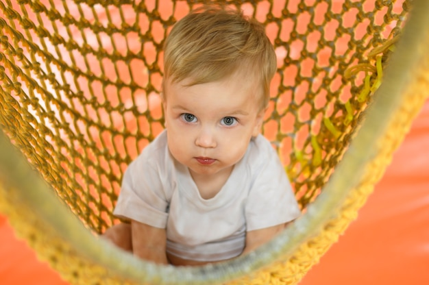 Portrait of lovely baby Free Photo
