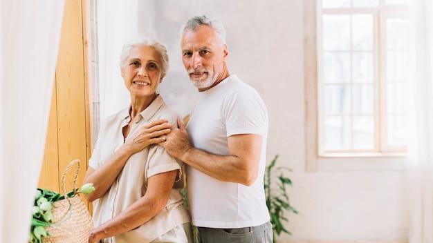 Portrait of loving happy senior couple Free Photo