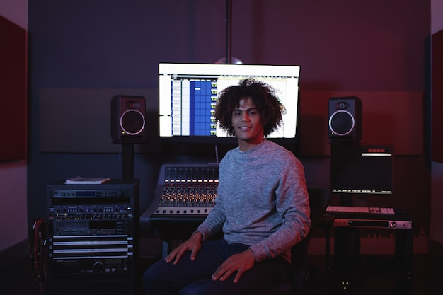 Portrait of male audio engineer Free Photo