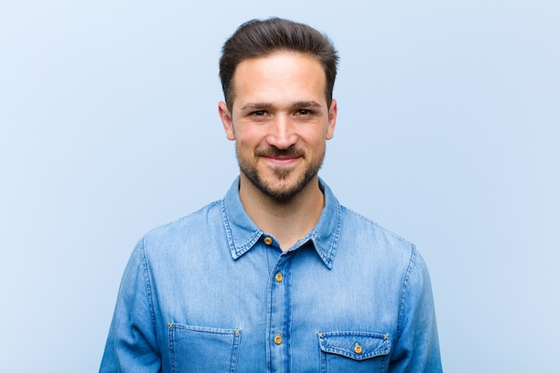 Portrait of a man smiling positively Premium Photo