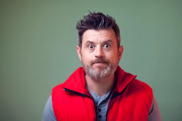 Portrait of man with kind face Premium Photo