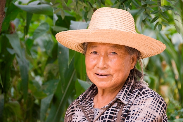 Portrait of mature chinese woman Premium Photo