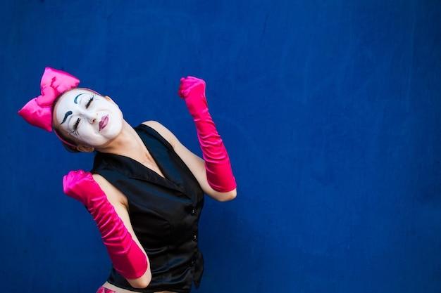 Portrait mime female Premium Photo