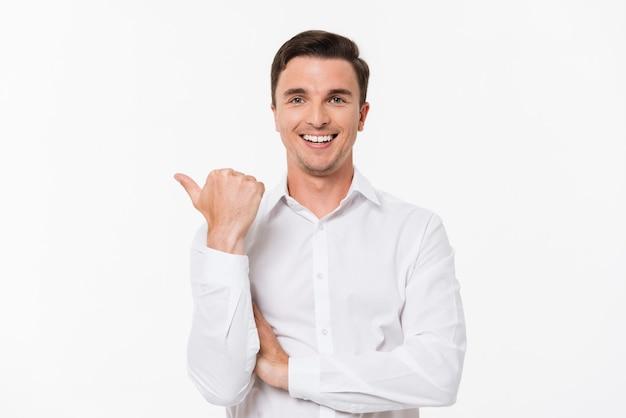 Портрет мужчины в белой рубашке Бесплатные Фотографии