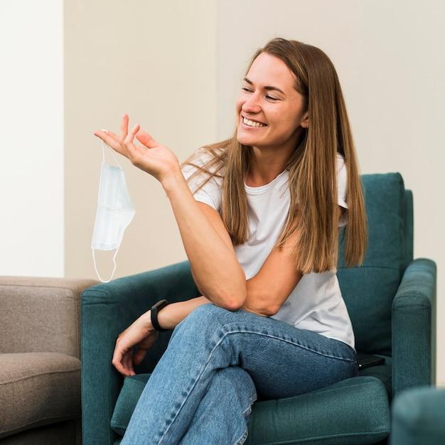 笑って幸せな女の肖像 無料写真