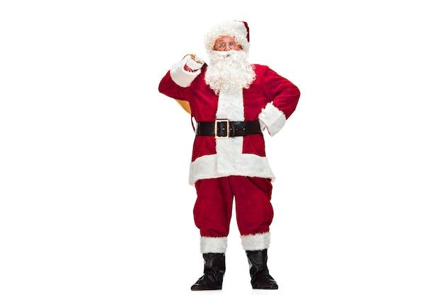 サンタクロースの衣装を着た男の肖像 無料写真