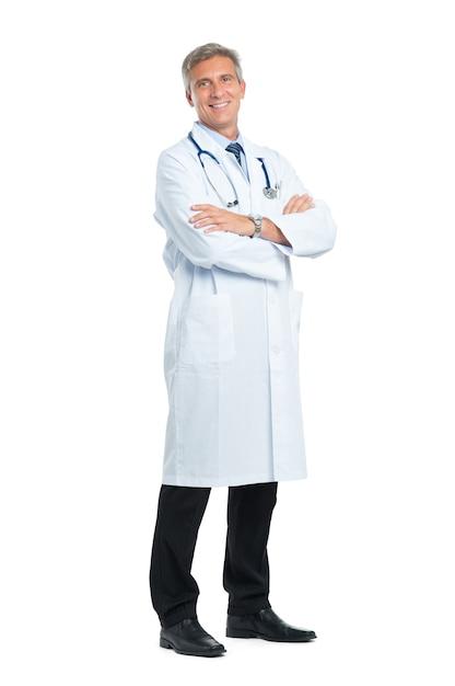 成熟した医師の笑顔の肖像画 Premium写真
