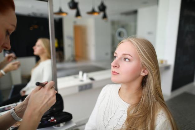Portrait Of Professional Makeup Artist