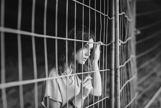 Portrait of a sad young woman Premium Photo
