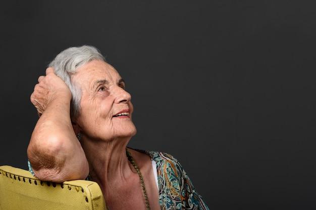 Portrait of a senior woman Premium Photo