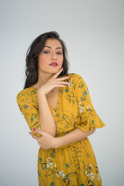 Free Photo | Portrait sexy woman on white background