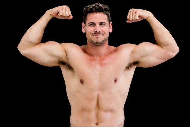 Profile of a young attractive man — Stock Photo