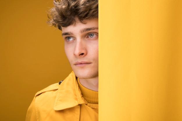 Portrait of shy fashionable boy Free Photo
