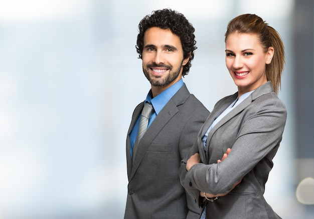 Portrait of smiling business people Premium Photo