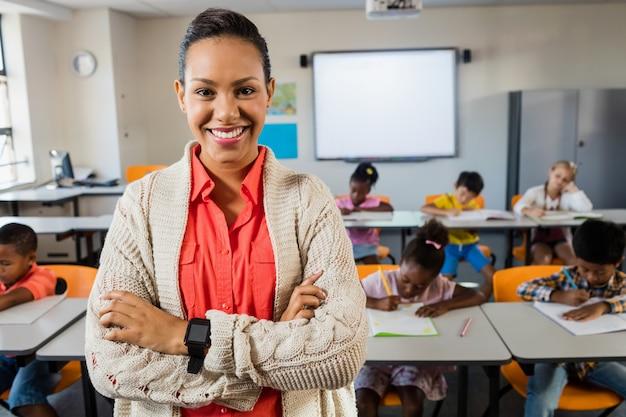 Portrait of smiling teacher Premium Photo
