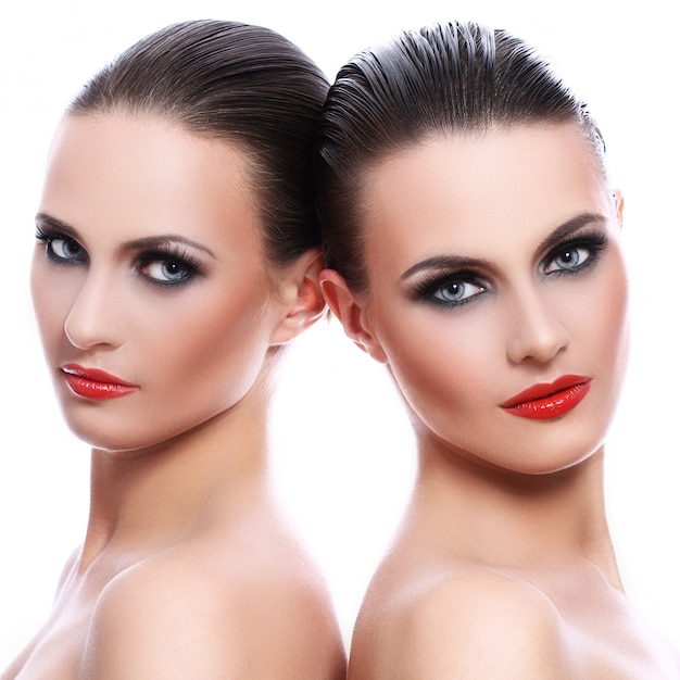 Portrait of two beautiful women Free Photo
