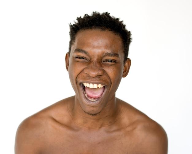 Portrait of a very happy man Premium Photo