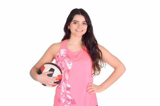 Portrait of volleyball woman. Premium Photo