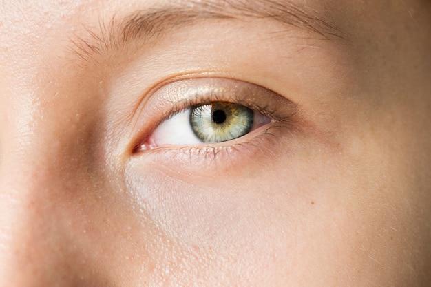 Portrait of white woman closeup on eyes Free Photo