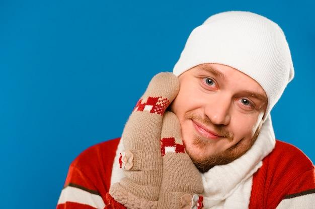 Portrait of winter fashion model Free Photo