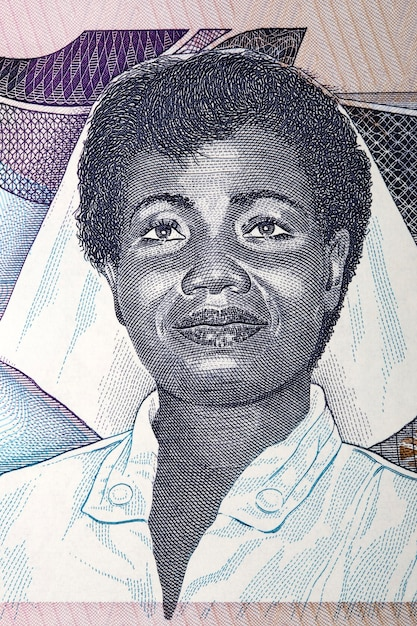 Portrait of woman from old ghanaian money Premium Photo