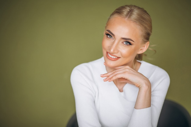 Portrait of woman skin care Free Photo