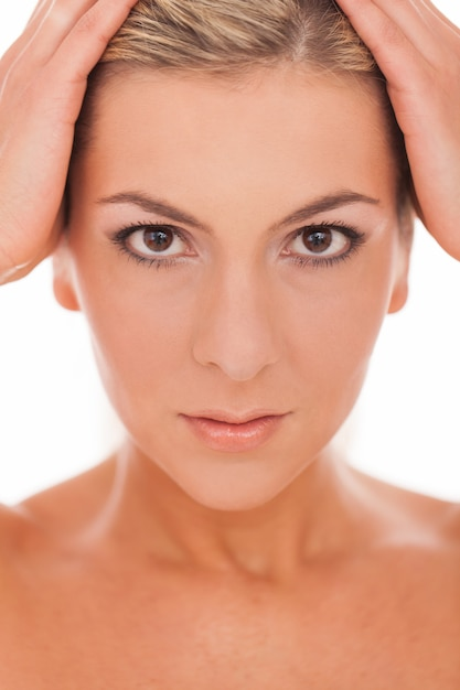 Portrait of woman with daytime make up Free Photo