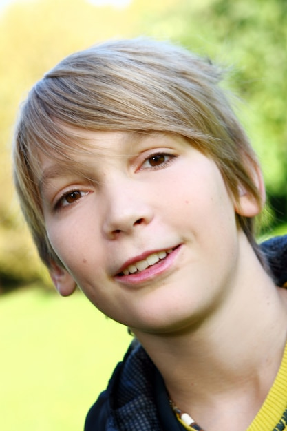 Portrait of young and attractive boy Free Photo
