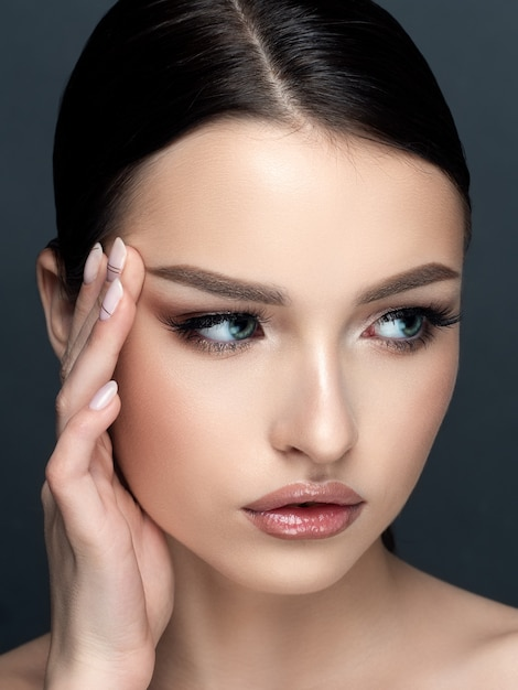 Portrait Of Attractive Sensual Young Woman Touching Her